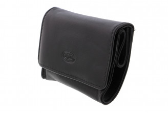 Mini Chacom leather tobacco pouch (black)