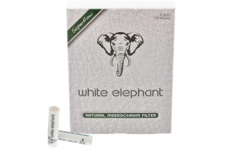 White-Elephant 9mm nature meerschaum filters (x150)