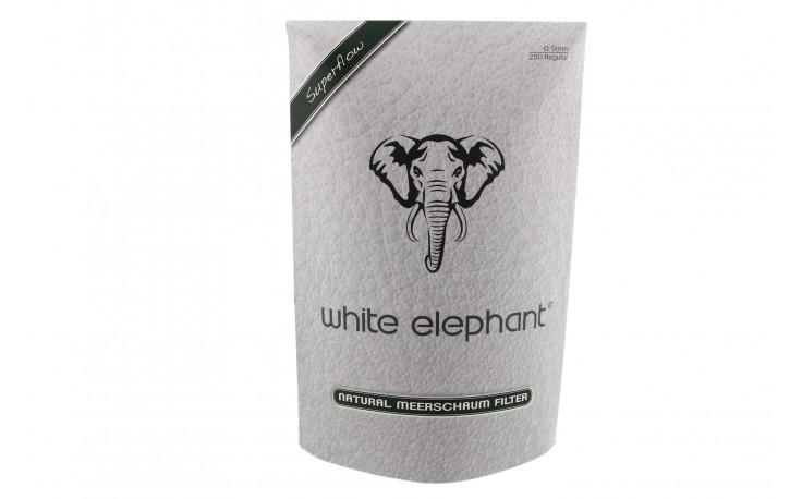 White-Elephant 9mm nature meerschaum filters (x250)