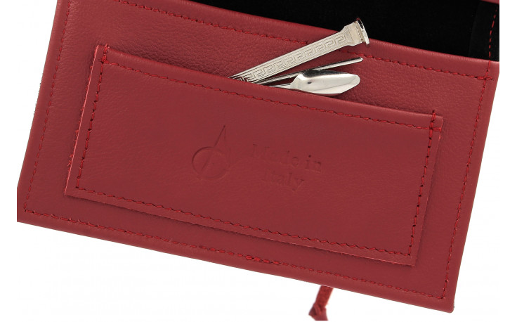 Leather pouch RYO by Claudio Albieri (burgundy/black)