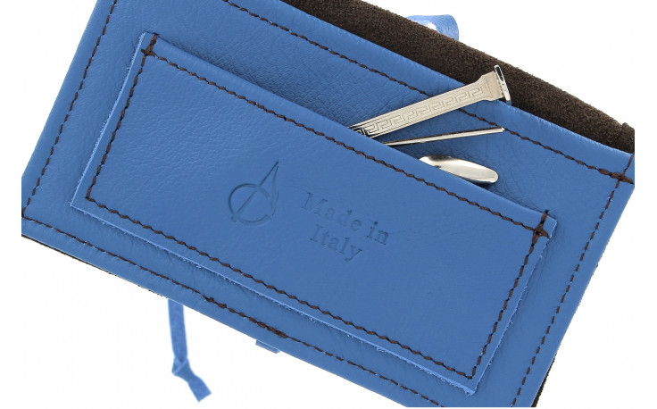 Leather pouch RYO by Claudio Albieri (blue/black)