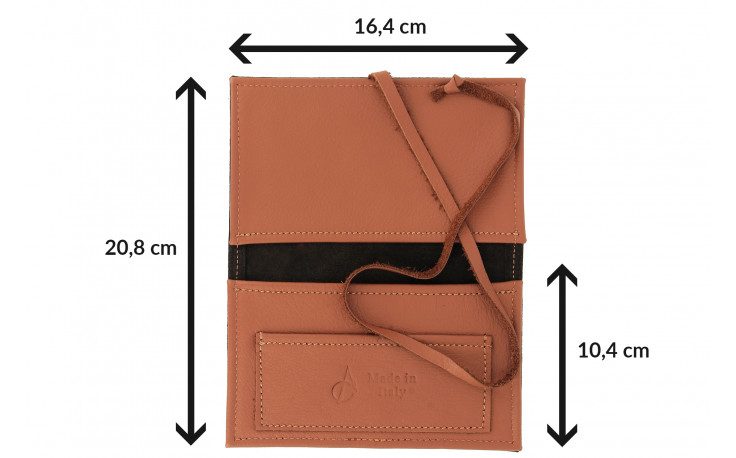 Leather pouch RYO by Claudio Albieri (beige/brown)