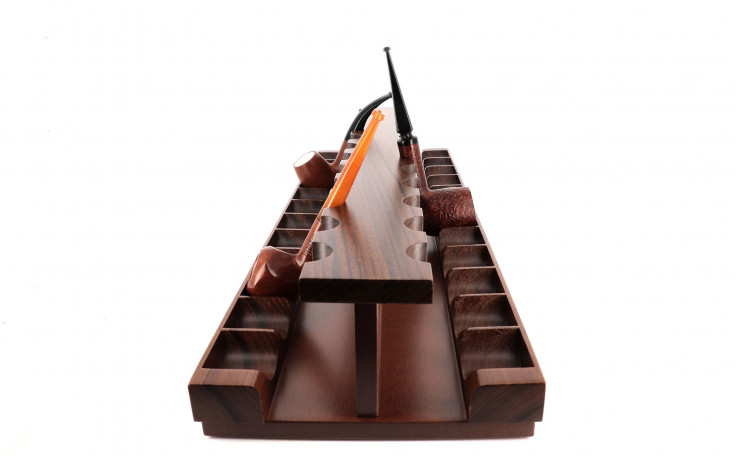 Pipe stand C124N in walnut