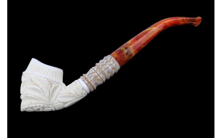Meerschaum pipe (Unique Flower)