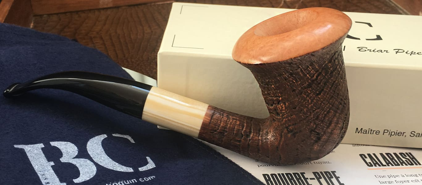 Butz Choquin Calabash pipe (GM sandblasted)