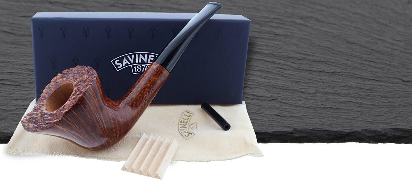 Savinelli pipes made of italian briar wood