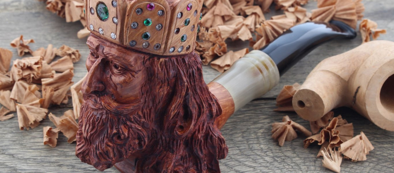 Charlemagne carved pipe