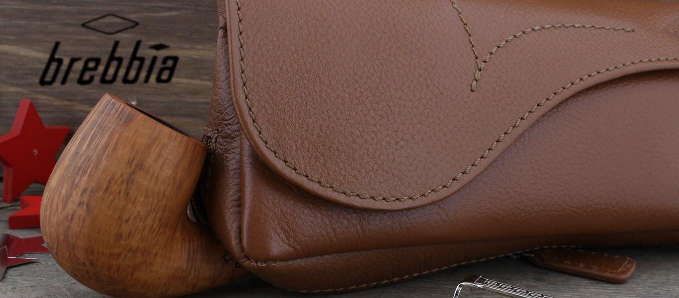 Brebbia leather tobacco pouch (cognac)
