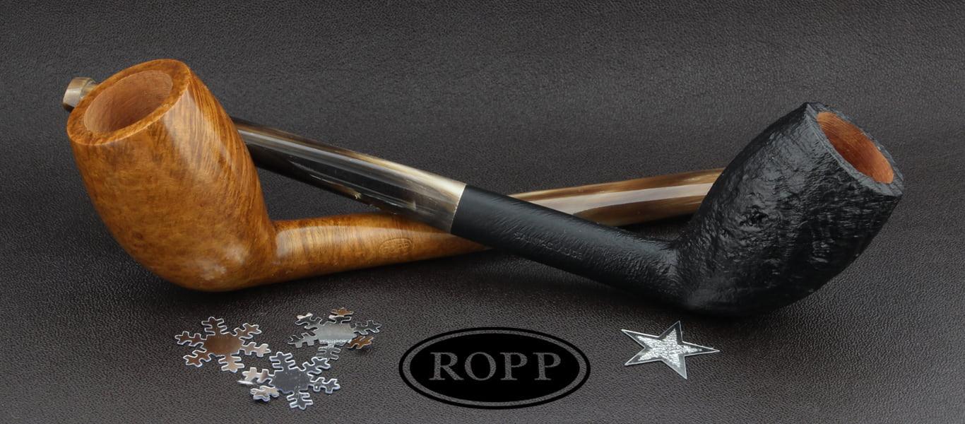 Ropp pipes made of briar wood