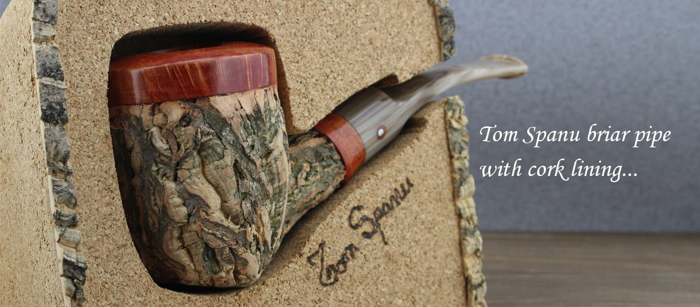 Tom Spanu briar pipe with cork lining