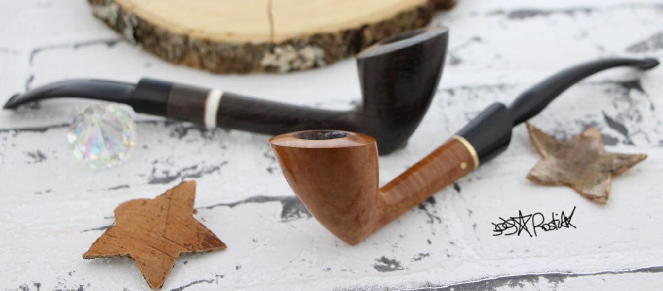 All Rostiak pipes, entirely handmade...