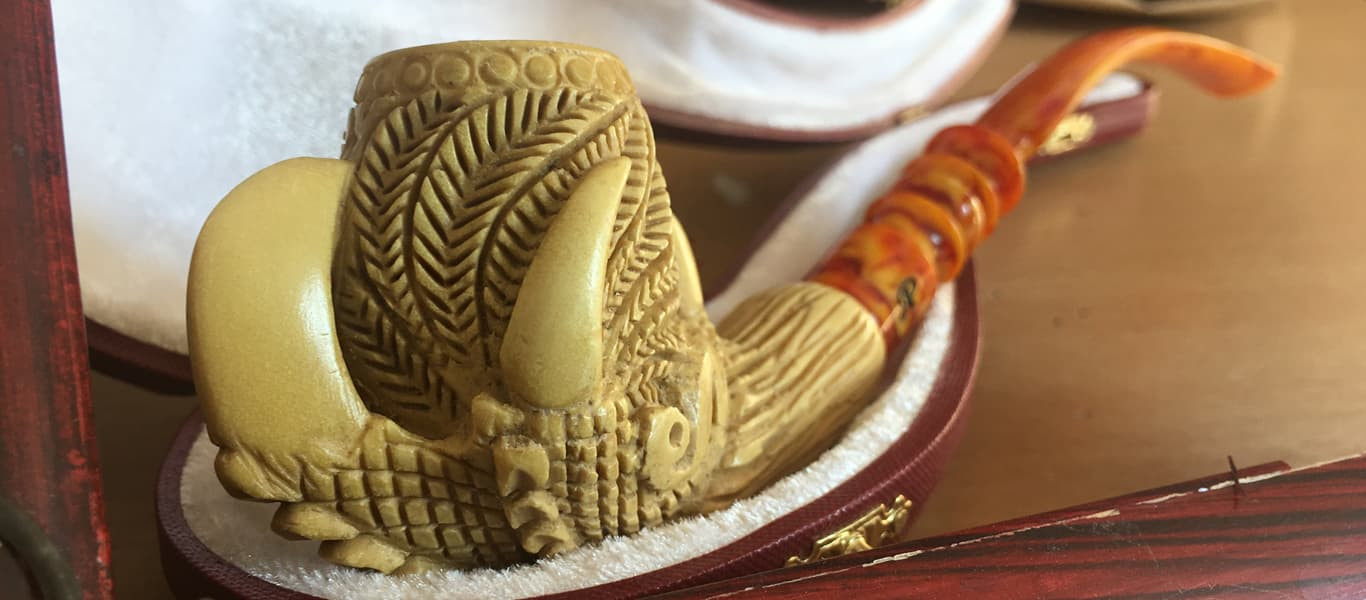 Dragon claw meerschaum long pipe