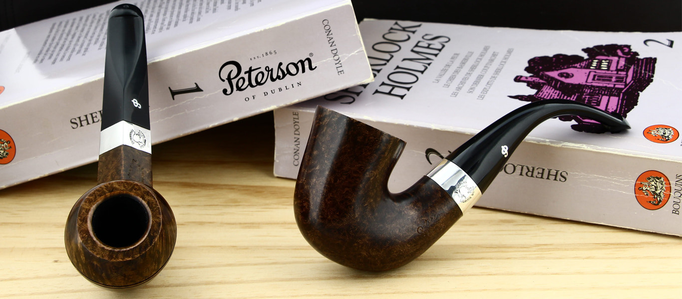 Peterson pipes (Sherlock Holmes lining)