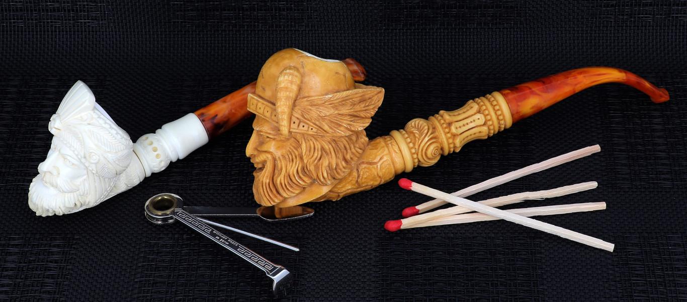 Meerschaum handmades pipes from Turkey